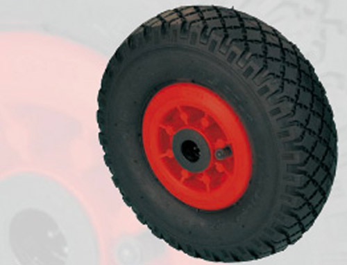 Superelastic rubber tyre wheels